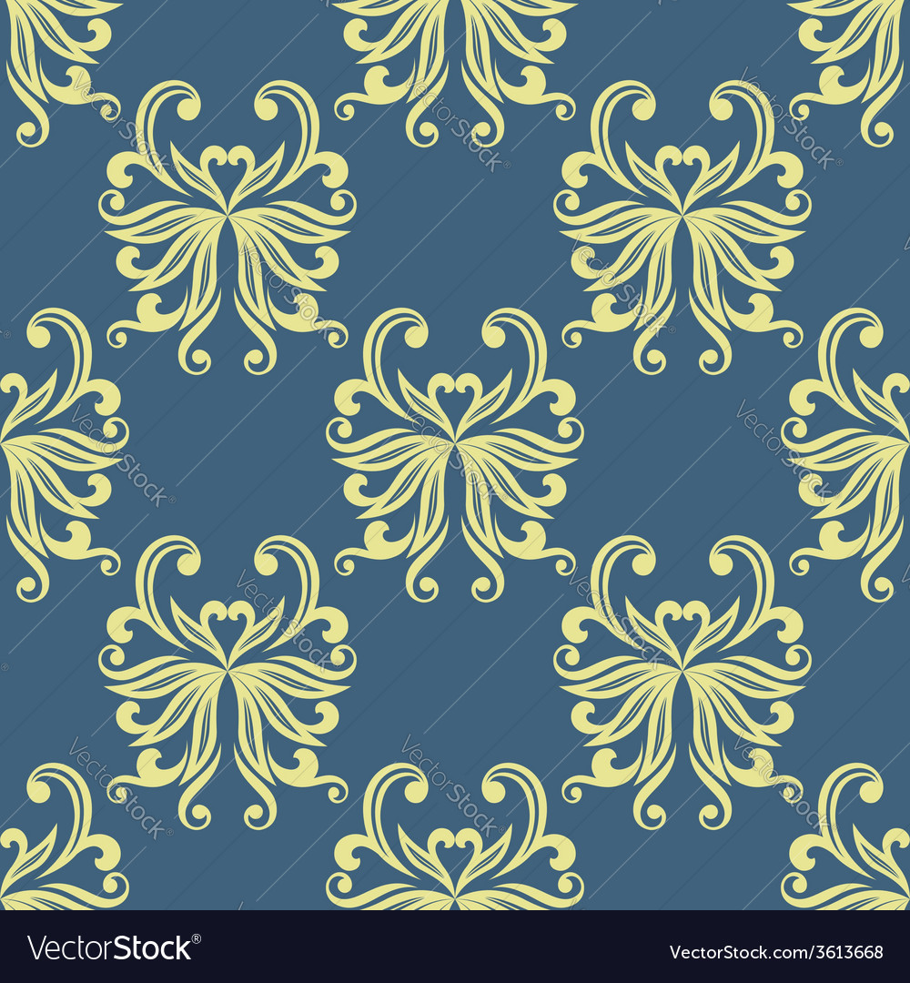 Yellow pansy seamless pattern vector | Price: 1 Credit (USD $1)