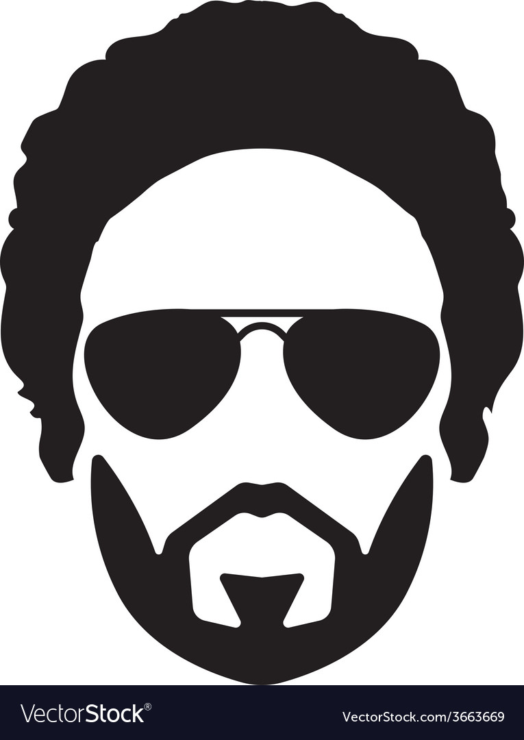Bearded young man vector | Price: 1 Credit (USD $1)