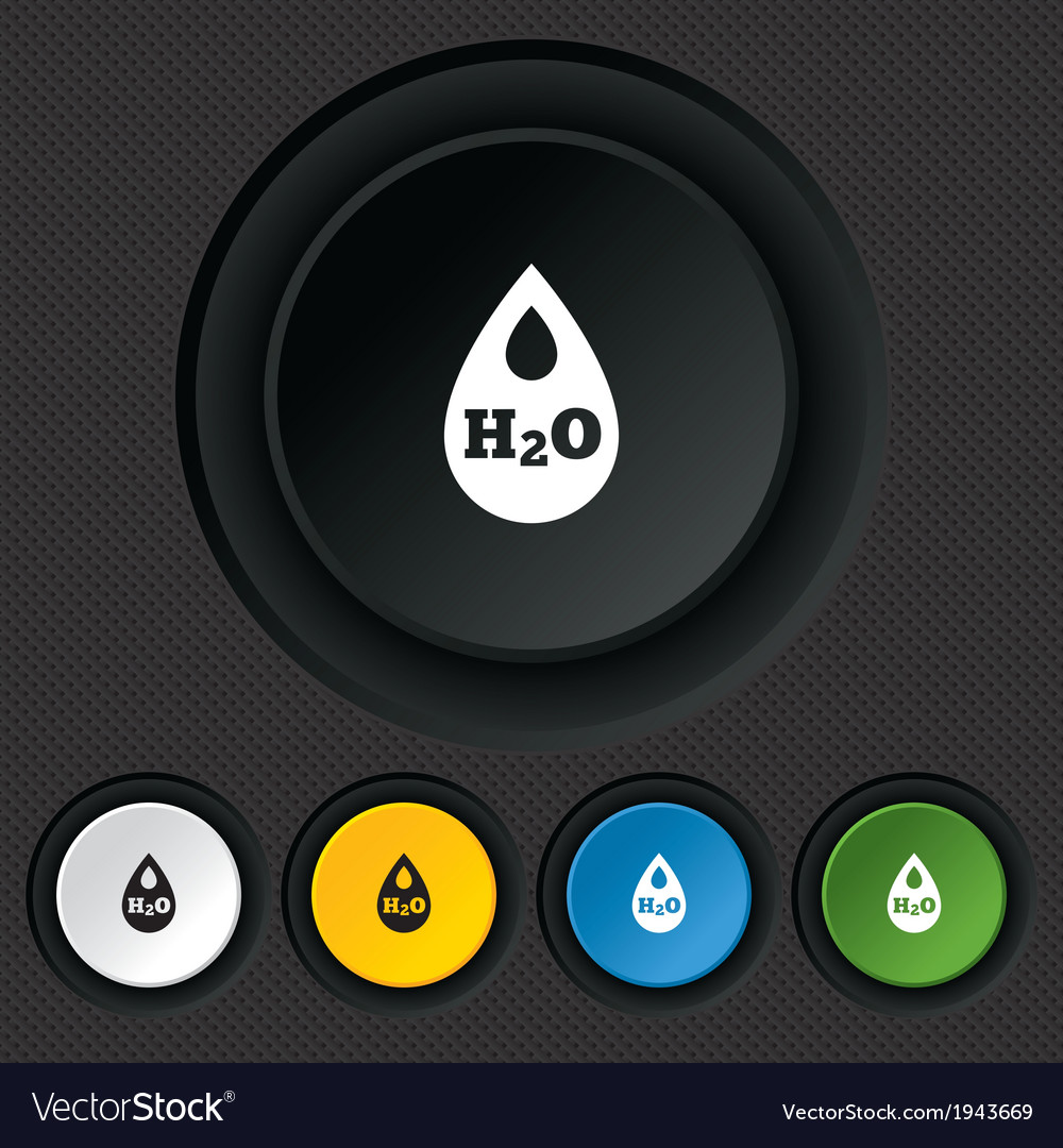 H2o water drop sign icon tear symbol vector   Price: 1 Credit (USD $1)
