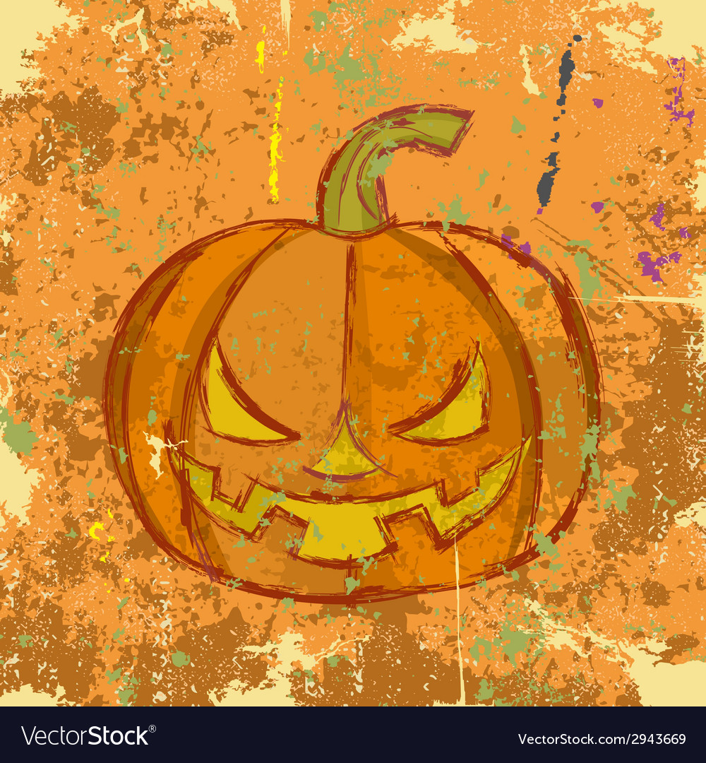 Halloween grunge pumpkin vector | Price: 1 Credit (USD $1)