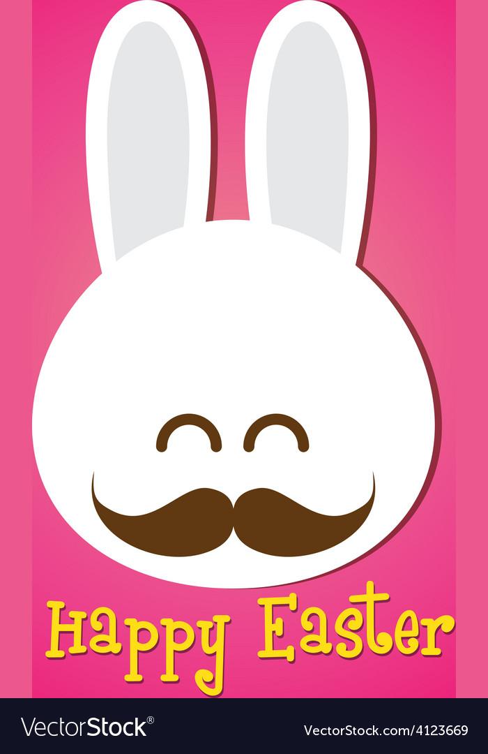 Happy easter smile rabbit bunny cartoon 002 vector | Price: 1 Credit (USD $1)