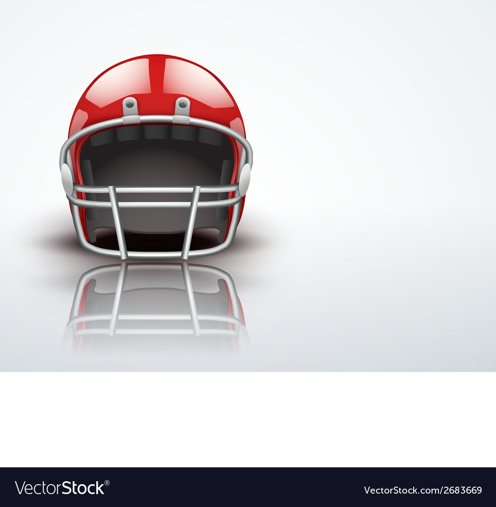 Light background realistic american football vector | Price: 1 Credit (USD $1)