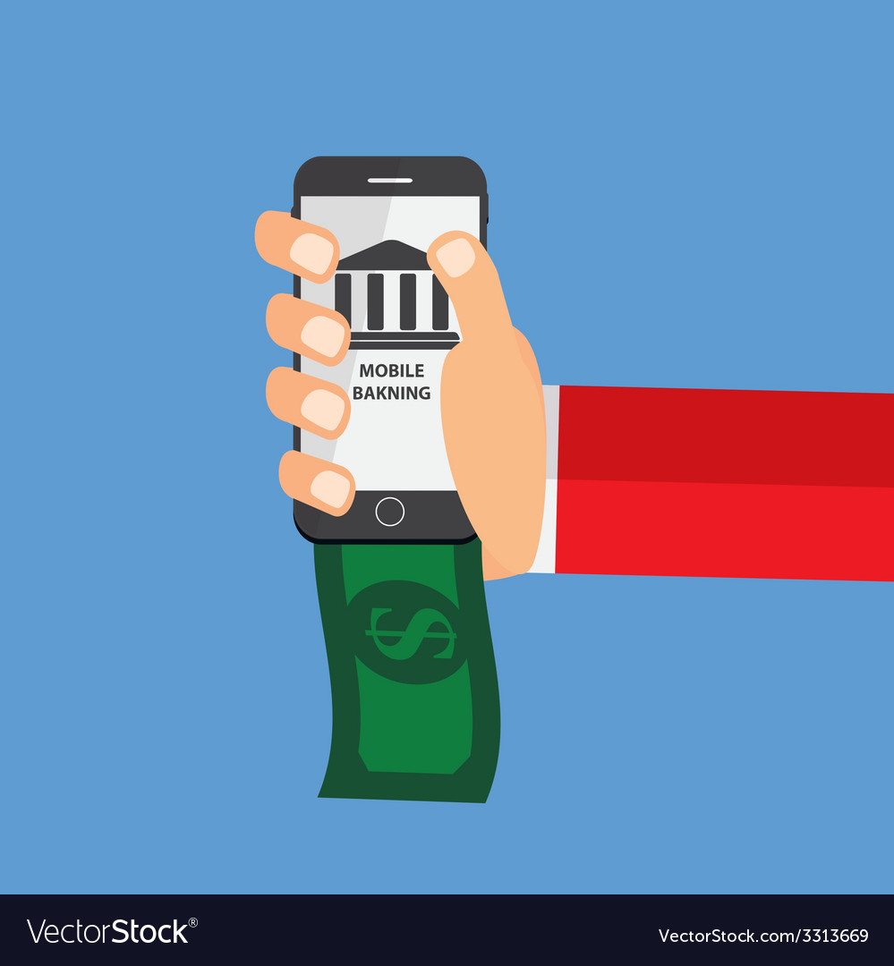 Mobile banking payment flat concept vector | Price: 1 Credit (USD $1)