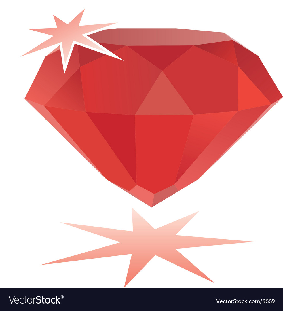 Ruby gemstone vector | Price: 1 Credit (USD $1)