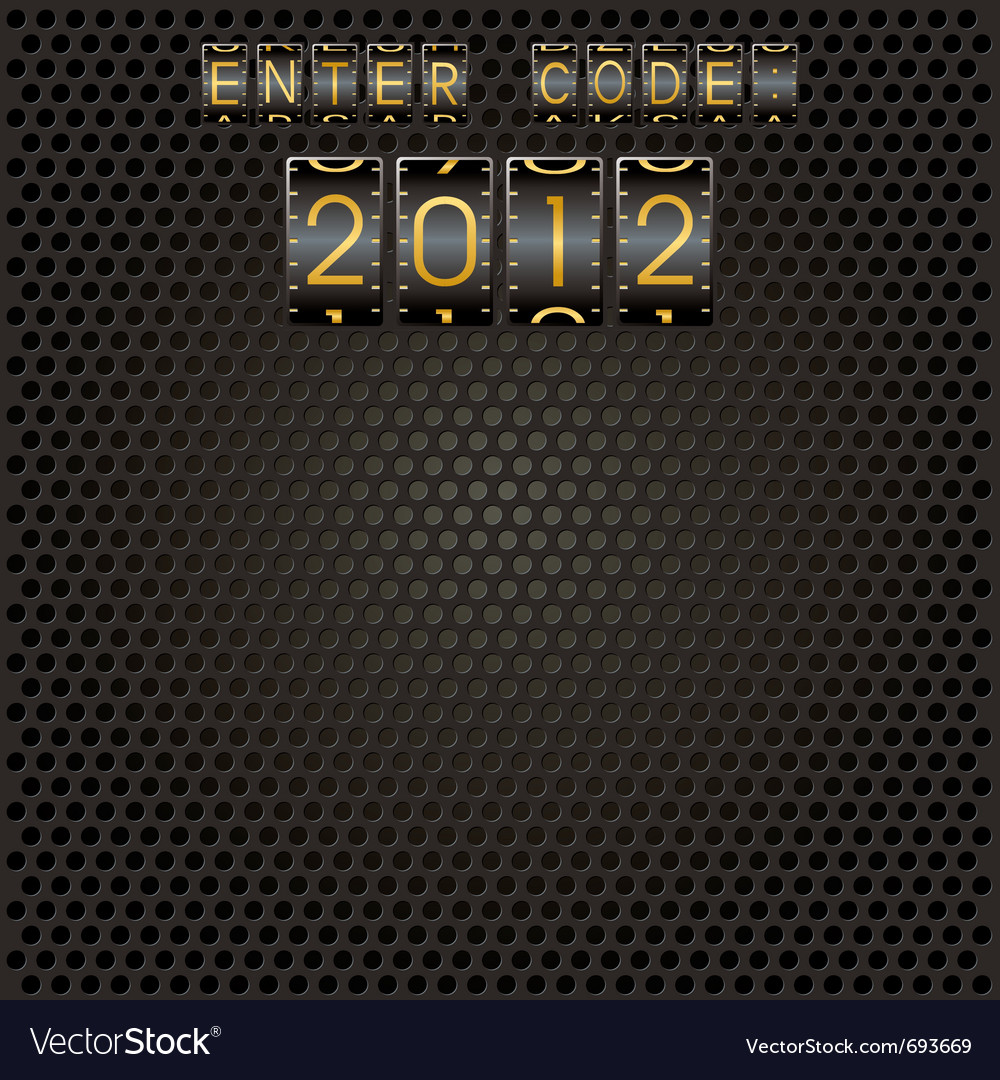 Title 2012 as a code vector | Price: 1 Credit (USD $1)