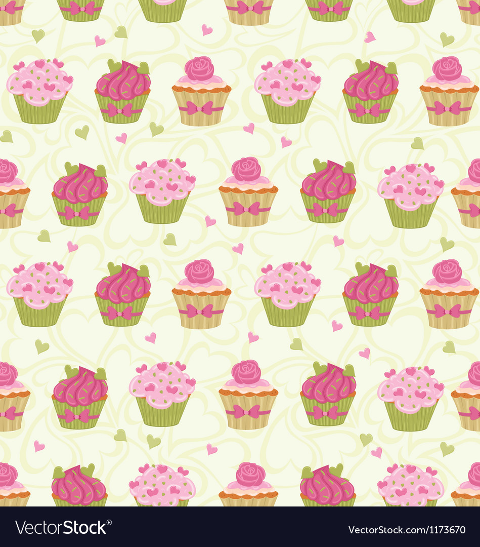 Cupcakes seam vector | Price: 1 Credit (USD $1)