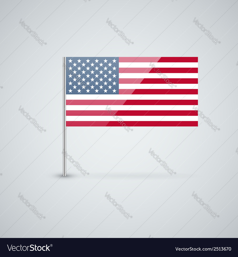 Flag of the usa vector | Price: 1 Credit (USD $1)