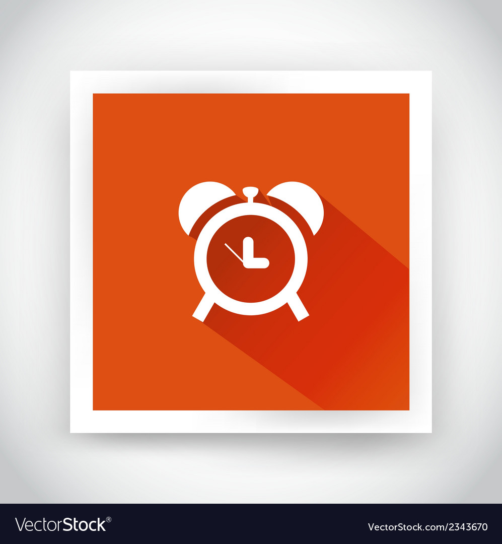 Icon of alarm clock for web and mobile vector | Price: 1 Credit (USD $1)