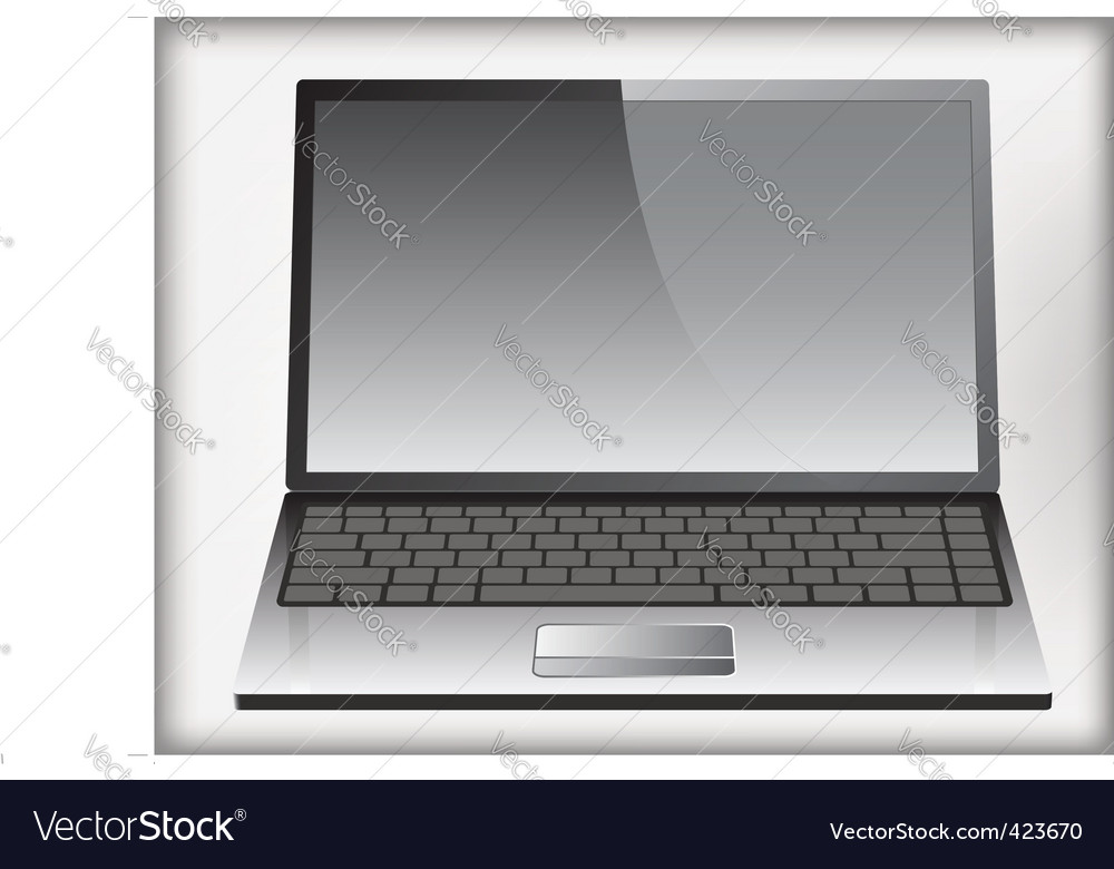 Laptop icon vector | Price: 1 Credit (USD $1)
