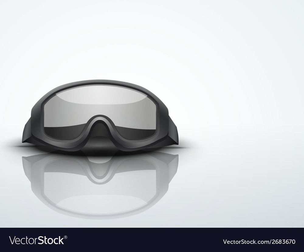 Light background military black goggles vector | Price: 1 Credit (USD $1)
