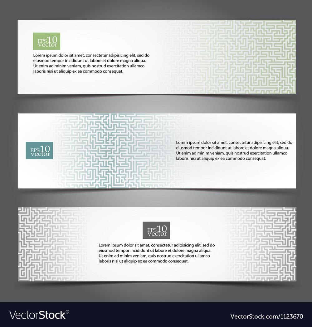 Maze web banners vector | Price: 1 Credit (USD $1)