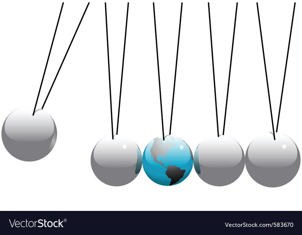 Newtons cradle vector | Price: 1 Credit (USD $1)
