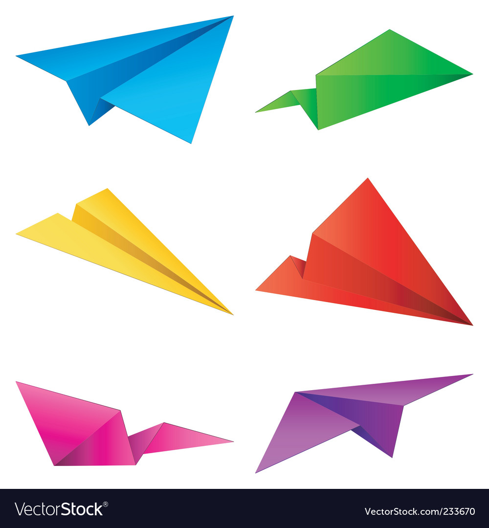 Paper airplanes vector | Price: 3 Credit (USD $3)