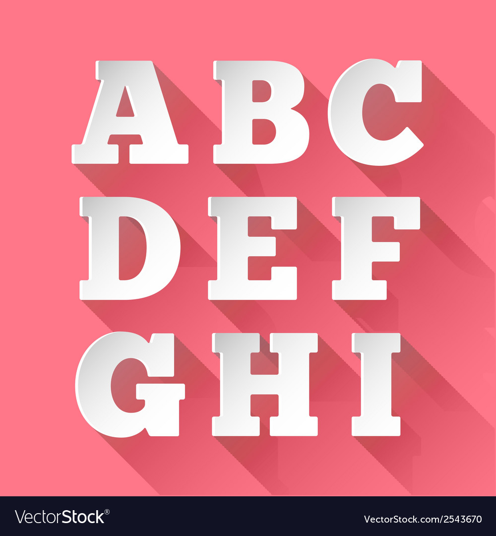 Paper alphabet a-i vector | Price: 1 Credit (USD $1)