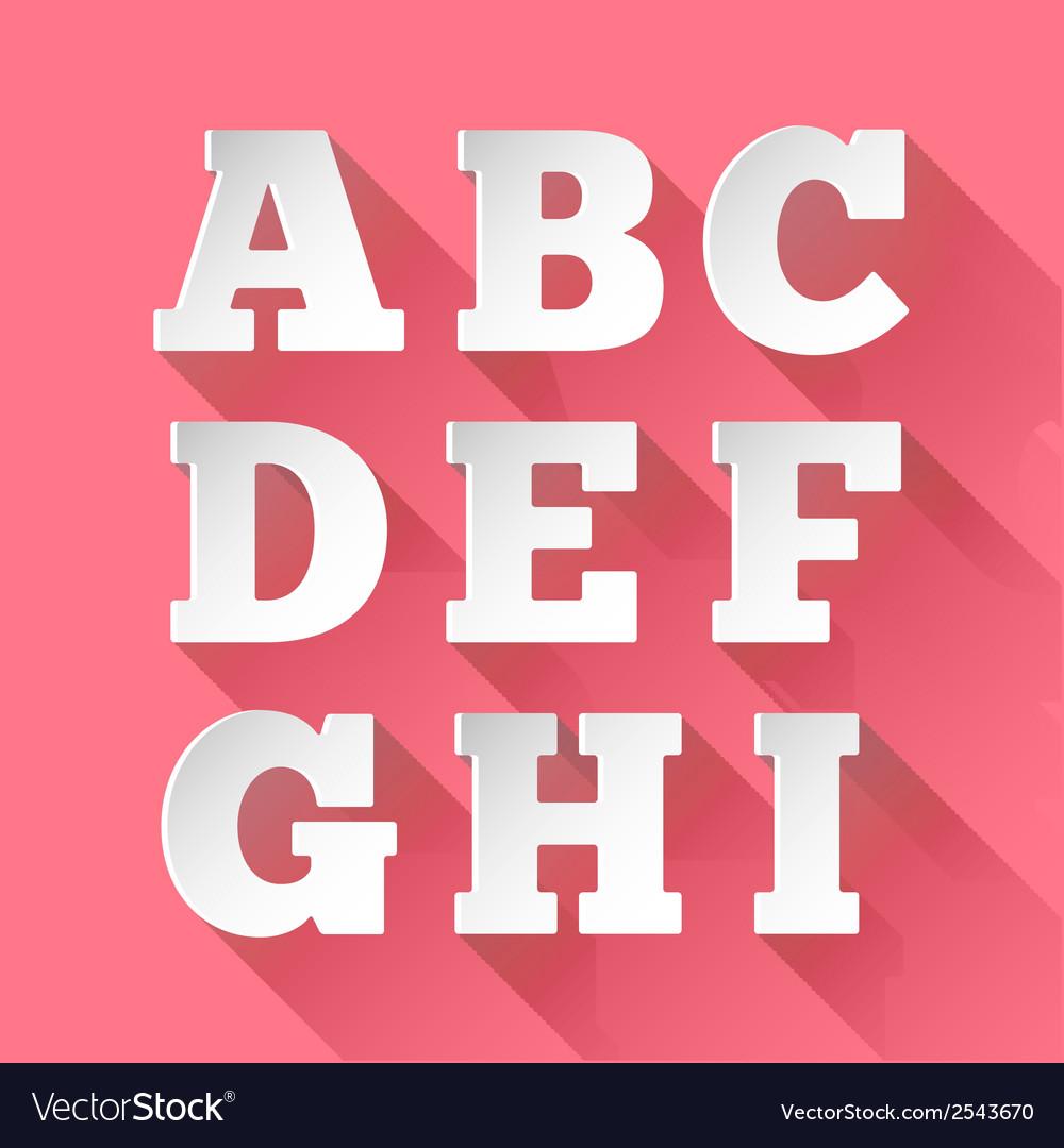 Paper alphabet a-i vector | Price: 1 Credit (USD $1)