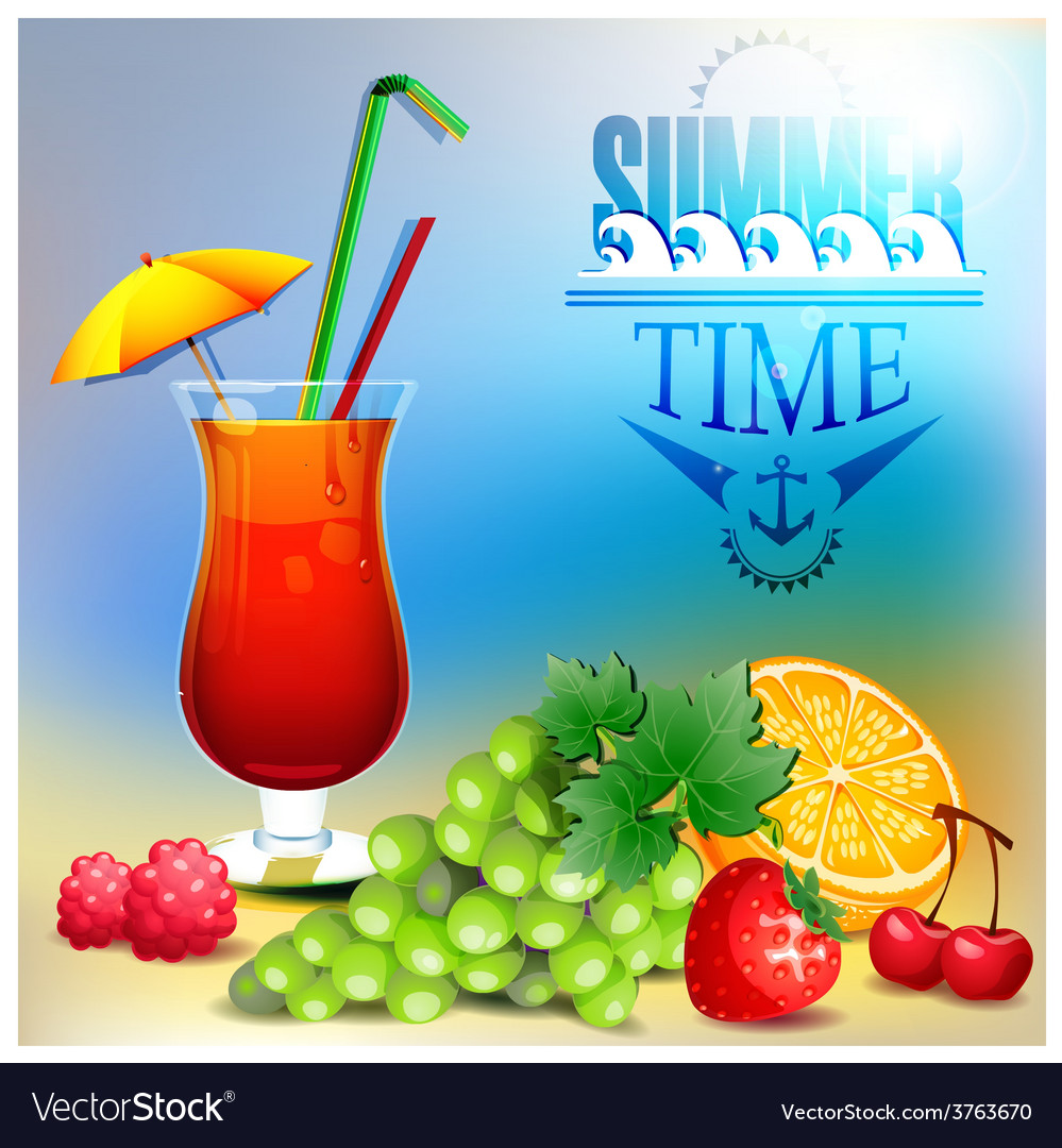 Summer time background design vector | Price: 1 Credit (USD $1)