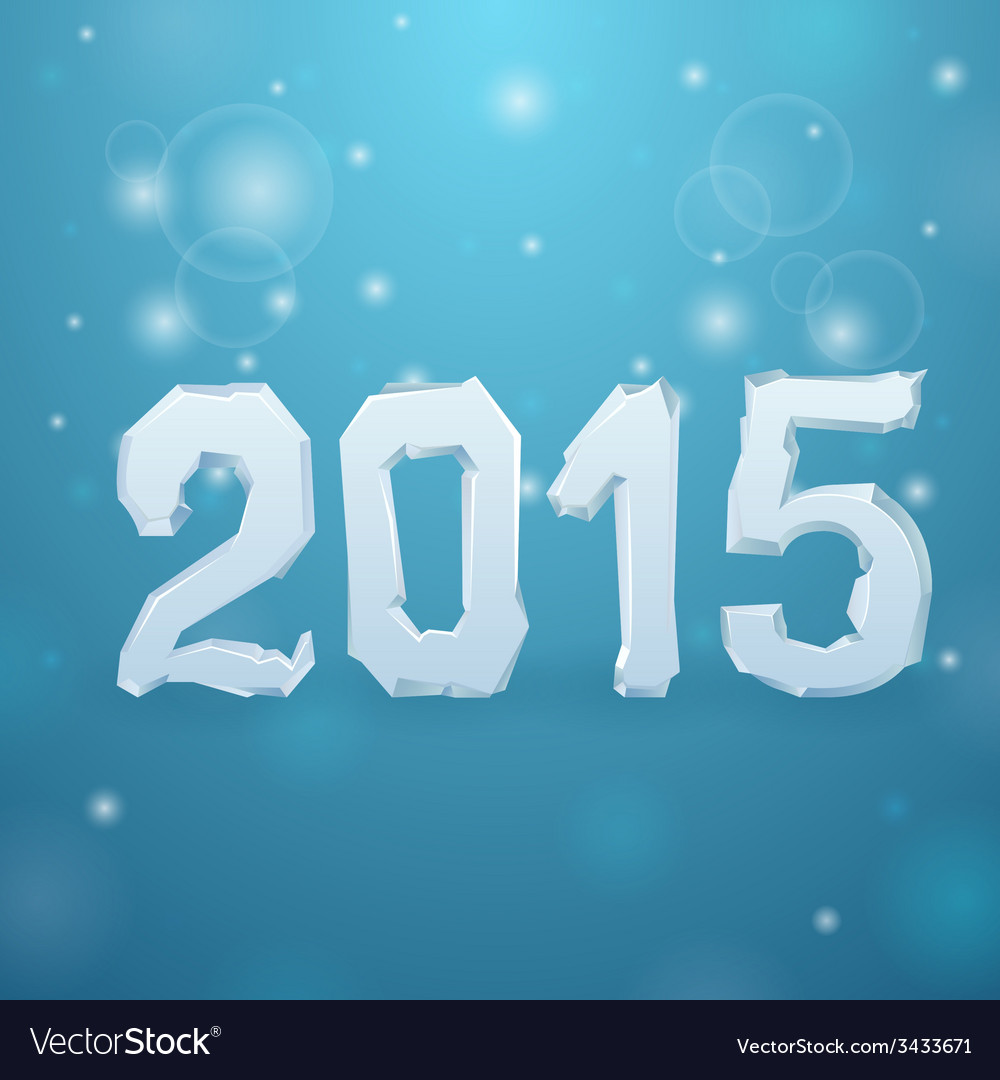 2015 ice new year background vector | Price: 1 Credit (USD $1)