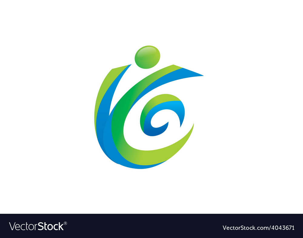 Active people abstract logo vector | Price: 1 Credit (USD $1)