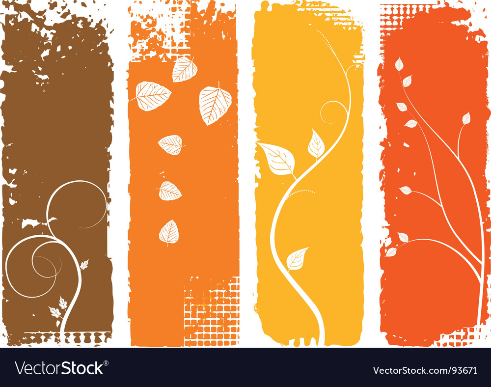 Autumn background vertical banners set vector | Price: 1 Credit (USD $1)