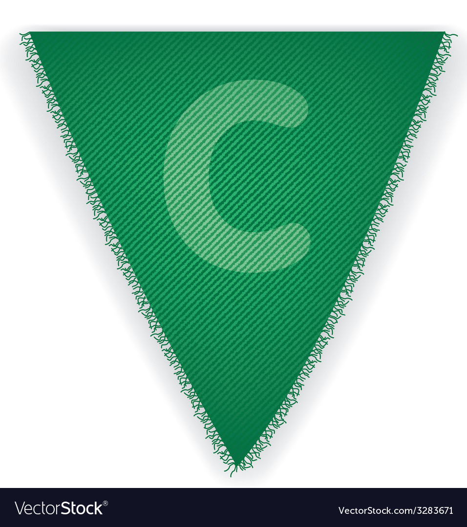 Bunting flag letter c vector | Price: 1 Credit (USD $1)