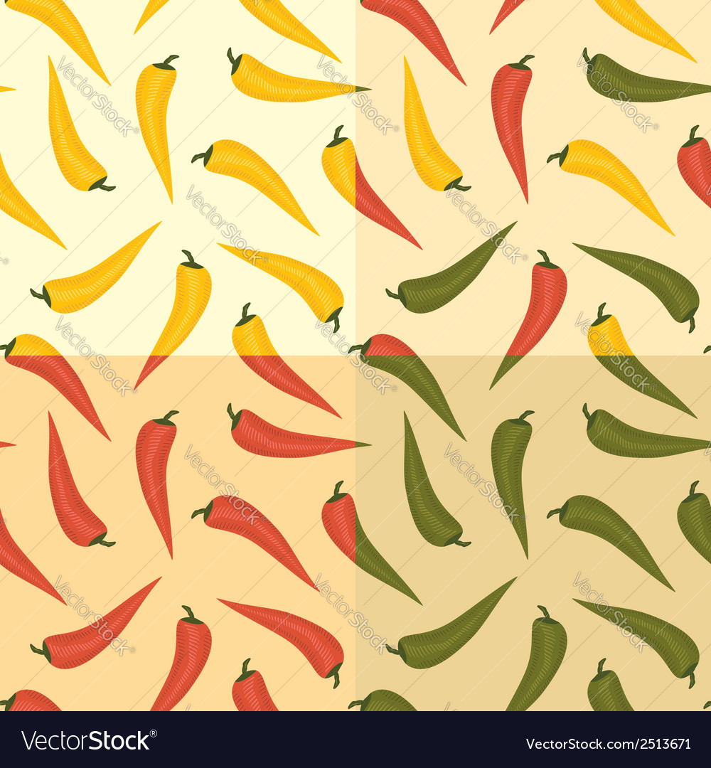 Chili pattern vector | Price: 1 Credit (USD $1)