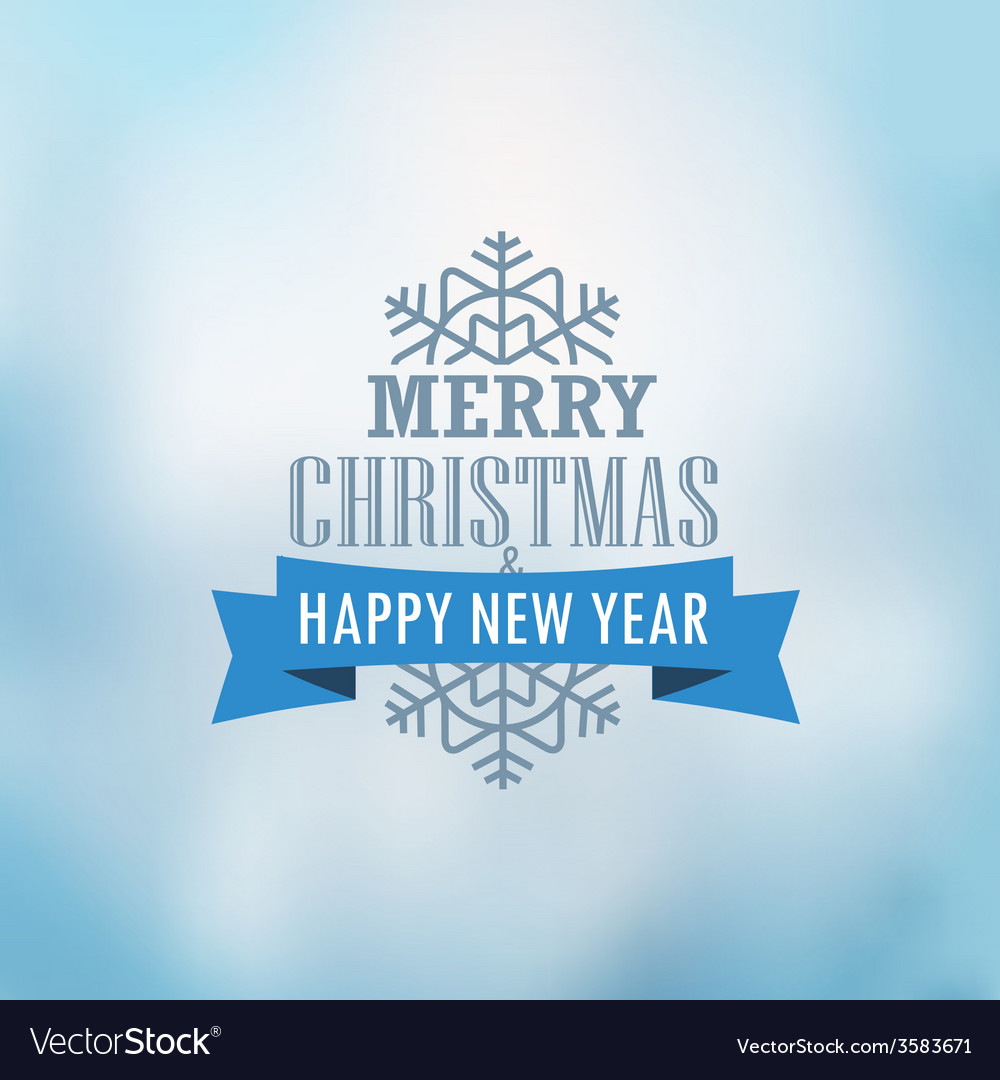 Christmas greeting card christmas emblem vector | Price: 1 Credit (USD $1)