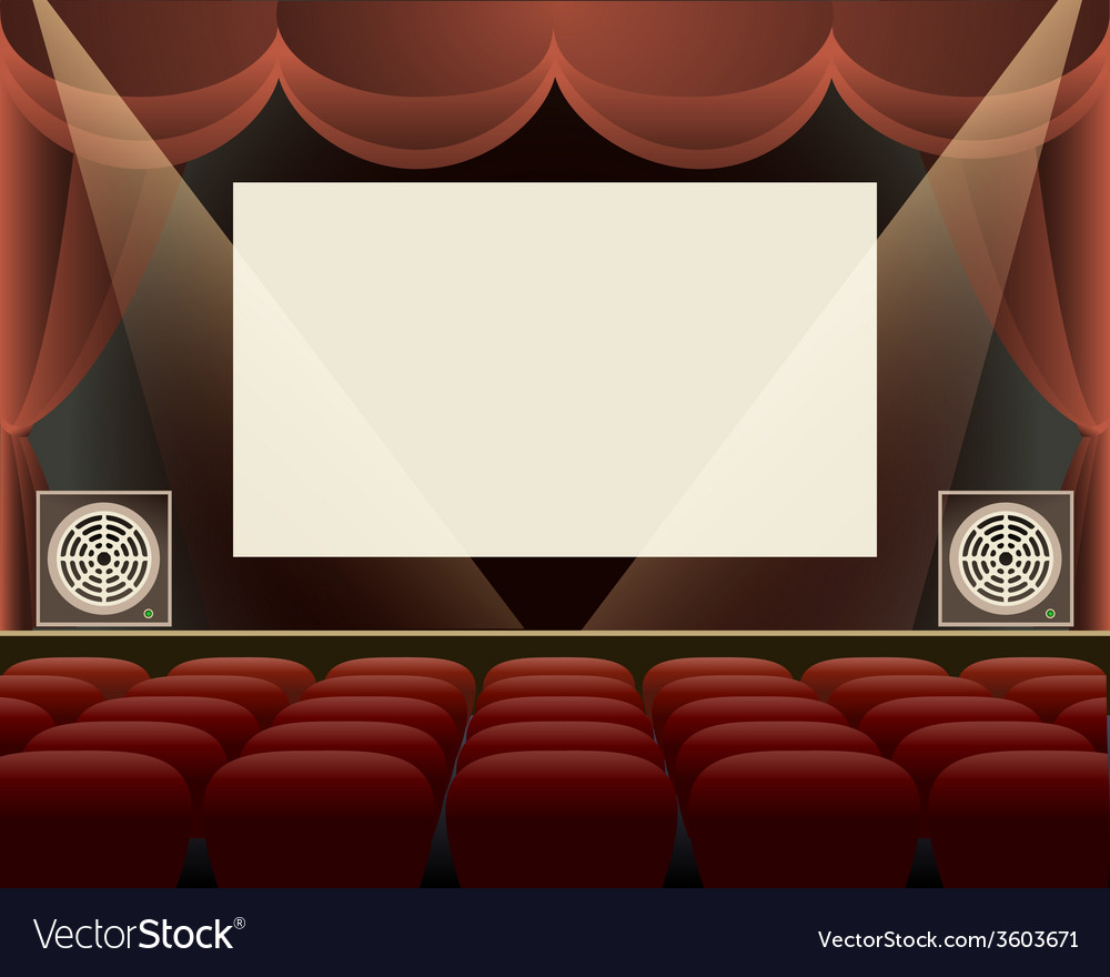 Cinema hall vector | Price: 1 Credit (USD $1)