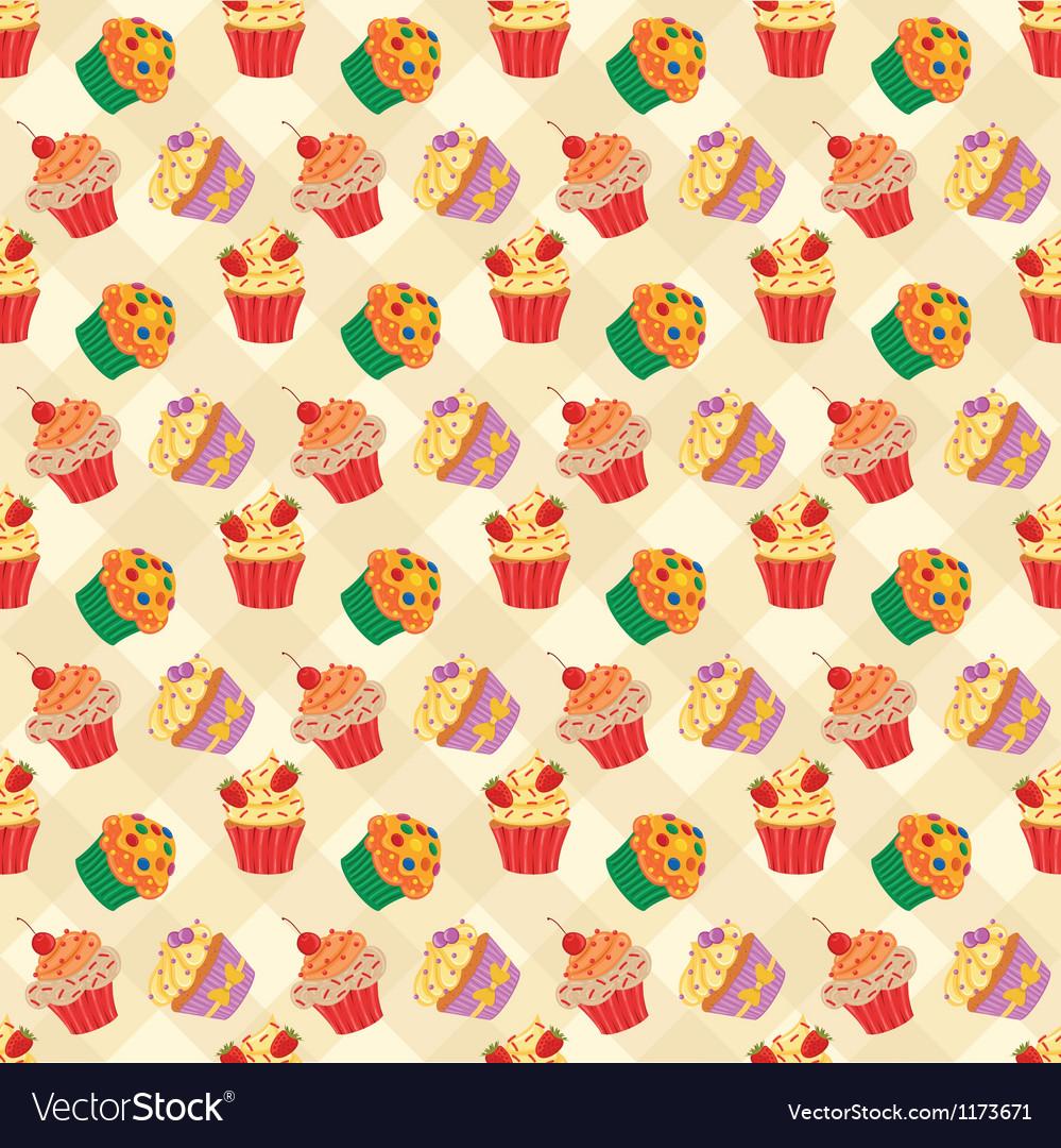 Cupcakes seam2 vector | Price: 1 Credit (USD $1)