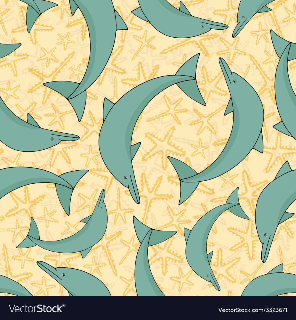 Dolphin pattern vector | Price: 1 Credit (USD $1)