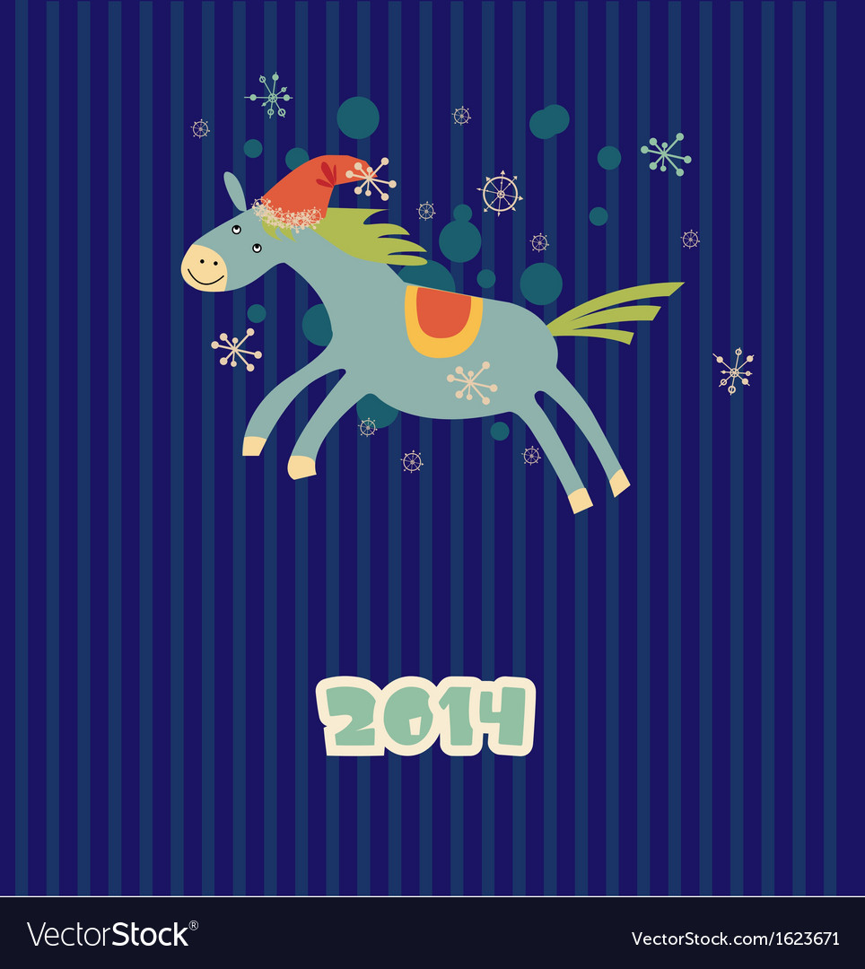 Funny christmas horse vector | Price: 1 Credit (USD $1)