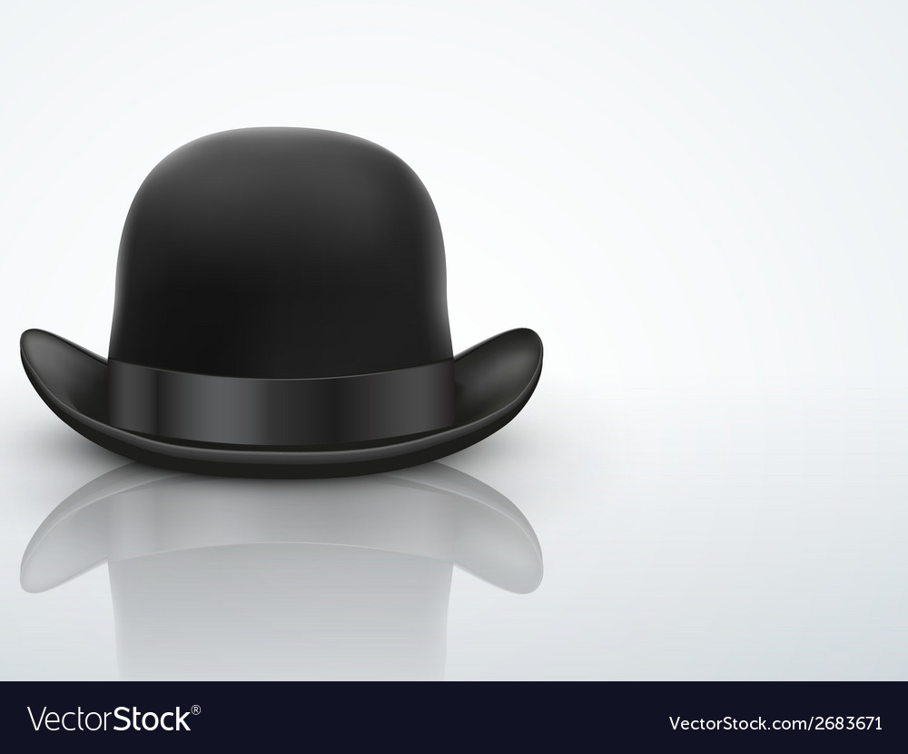 Light background black bowler hat vector | Price: 1 Credit (USD $1)