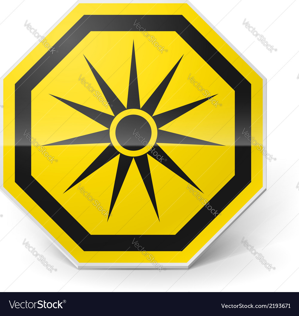 Optical radiation sign vector | Price: 1 Credit (USD $1)