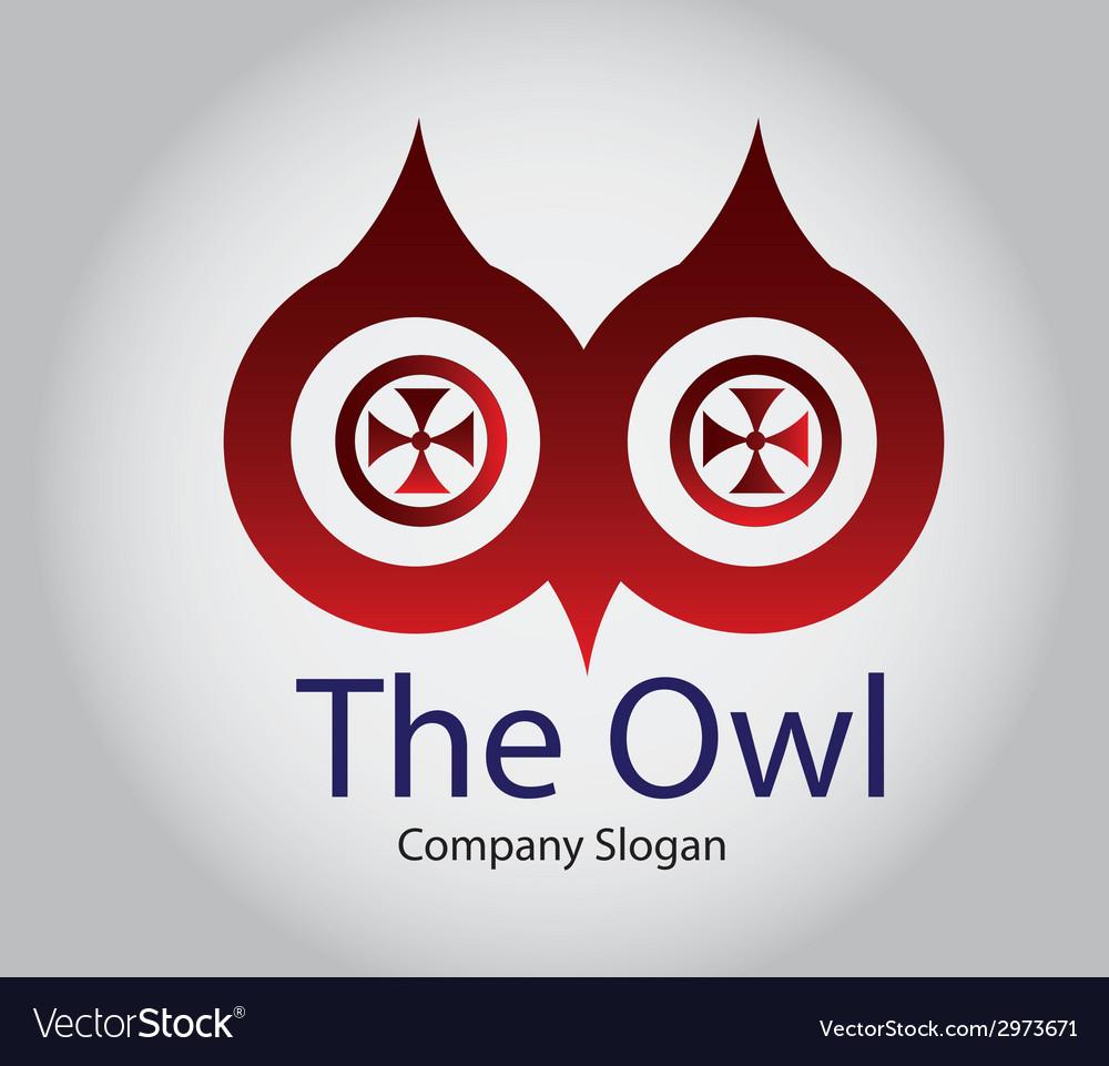 Owl eyes vector | Price: 1 Credit (USD $1)