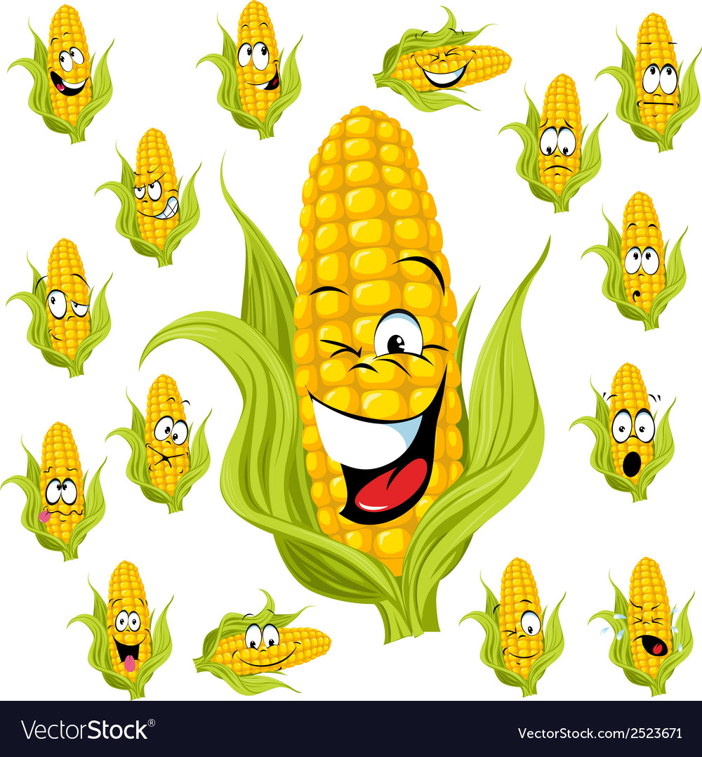 Sweet corn cartoon vector | Price: 1 Credit (USD $1)