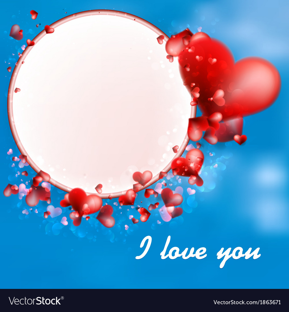 Valentines day hearts on blue  eps10 vector | Price: 1 Credit (USD $1)