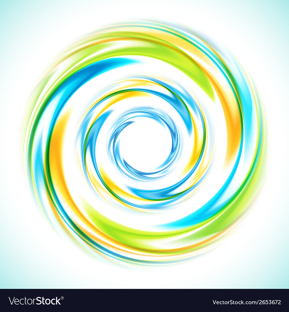 Abstract blue green and yellow swirl circle bright vector   Price: 1 Credit (USD $1)