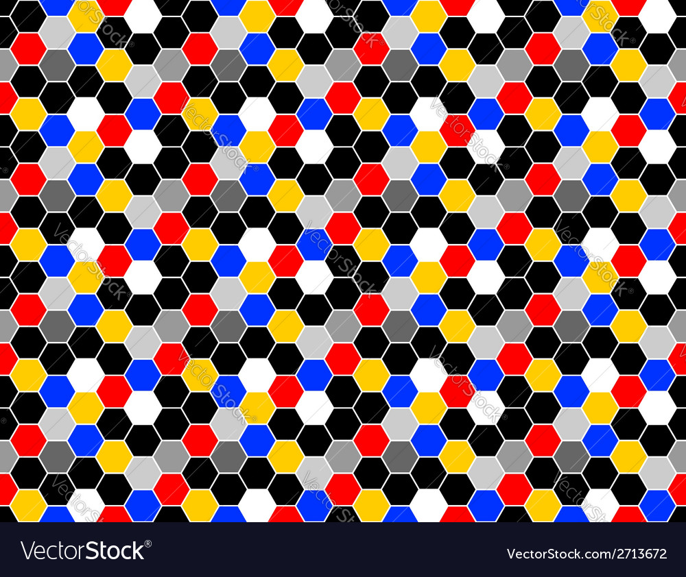 Design seamless colorful mosaic hexagon pattern vector | Price: 1 Credit (USD $1)