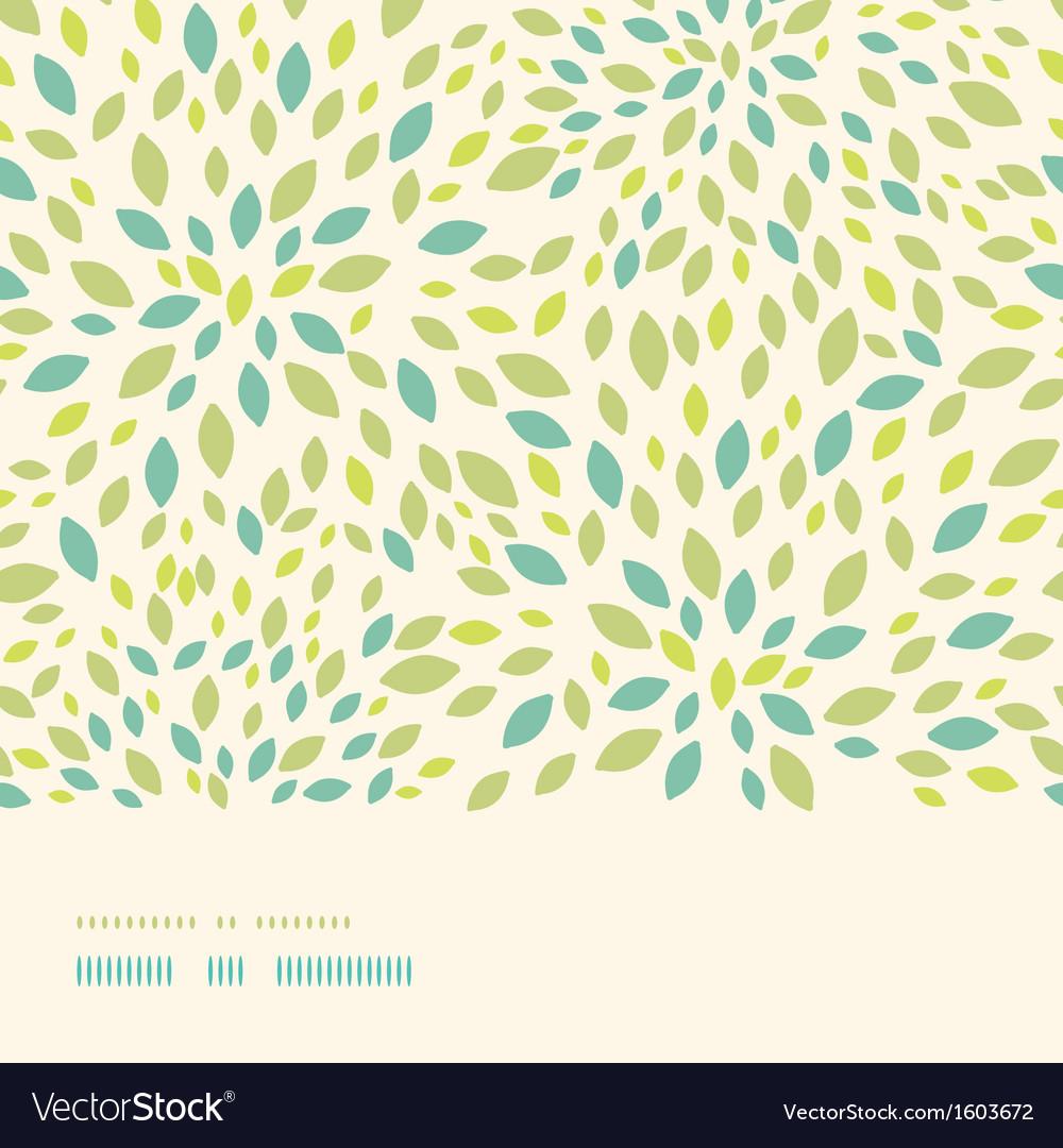 Leaf texture horizontal border seamless pattern vector   Price: 1 Credit (USD $1)