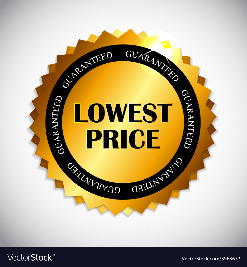 Lowest price label vector | Price: 1 Credit (USD $1)