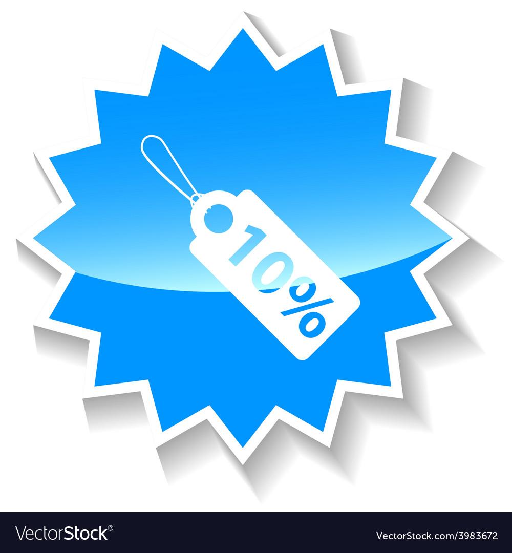 Price tag blue icon vector | Price: 1 Credit (USD $1)