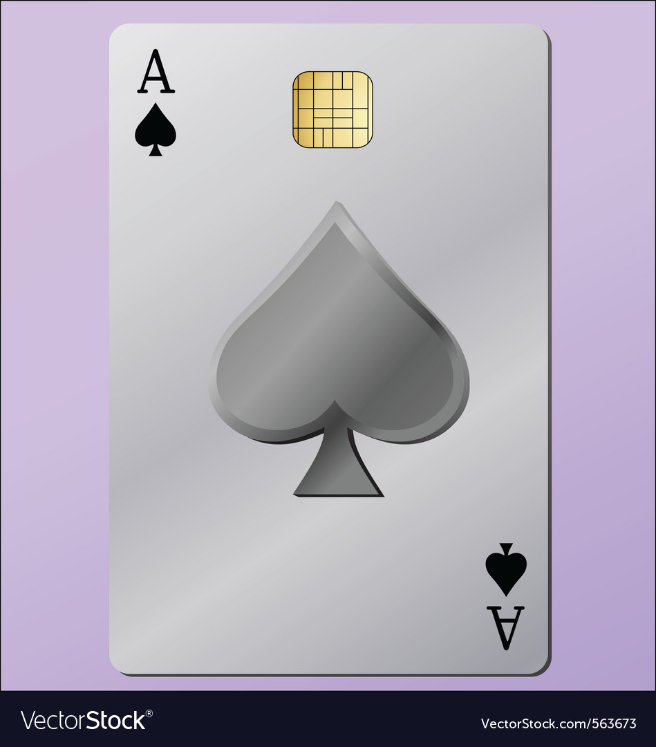 Ace as a credit card vector | Price: 1 Credit (USD $1)