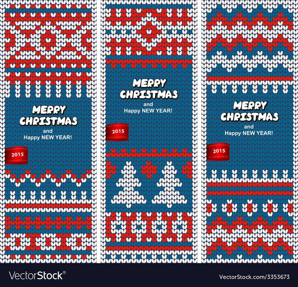 Beautiful christmas set of banners with lace vector | Price: 1 Credit (USD $1)
