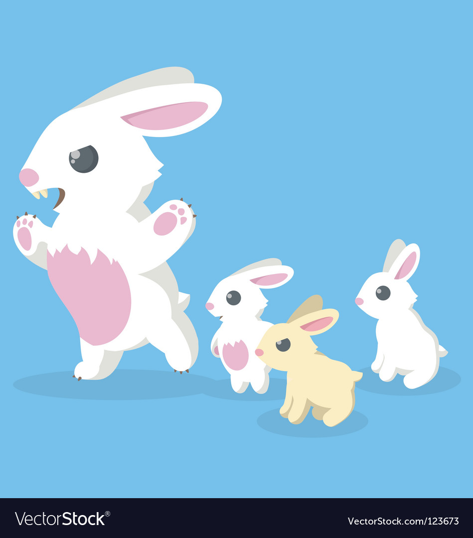 Bunny family vector | Price: 1 Credit (USD $1)