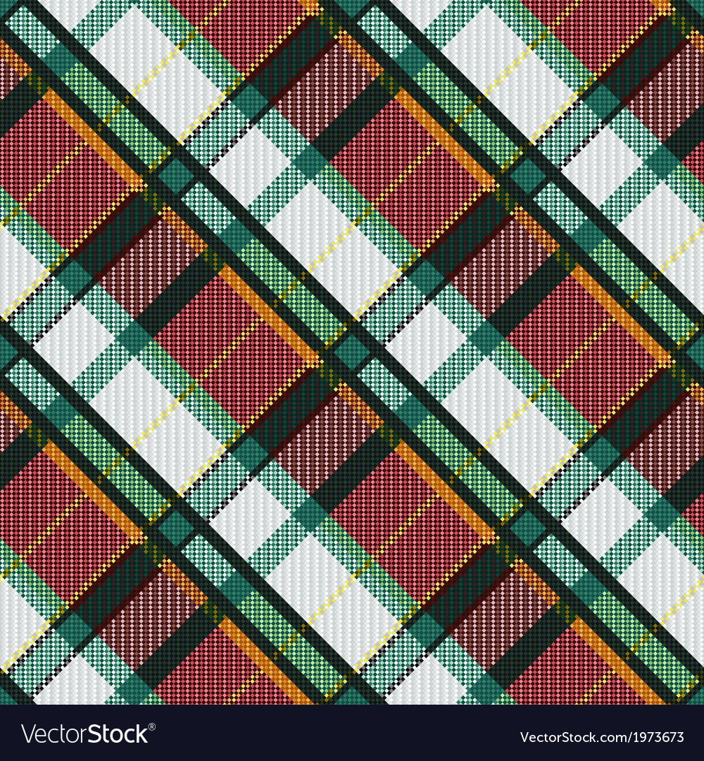 Checkered diagonal tartan seamless texture vector | Price: 1 Credit (USD $1)