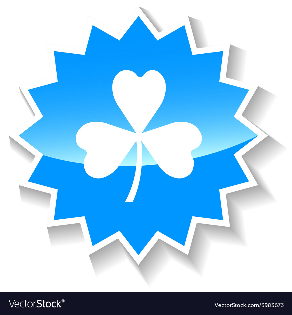 Clover blue icon vector | Price: 1 Credit (USD $1)