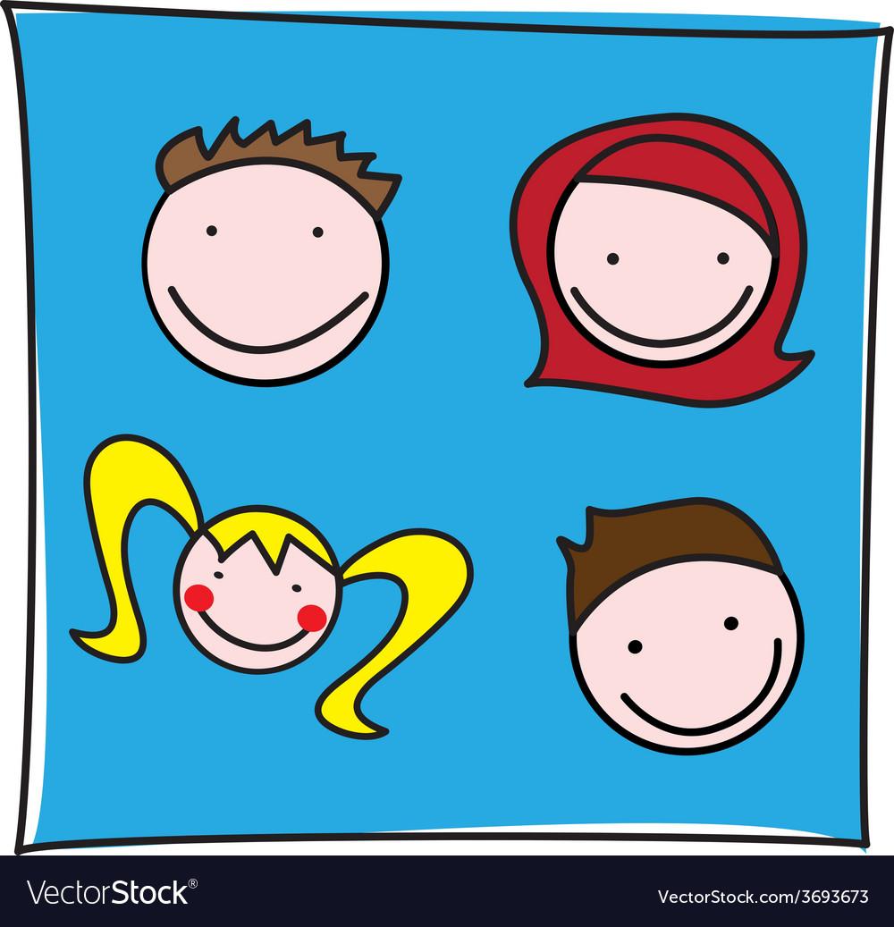 Family icon vector | Price: 1 Credit (USD $1)