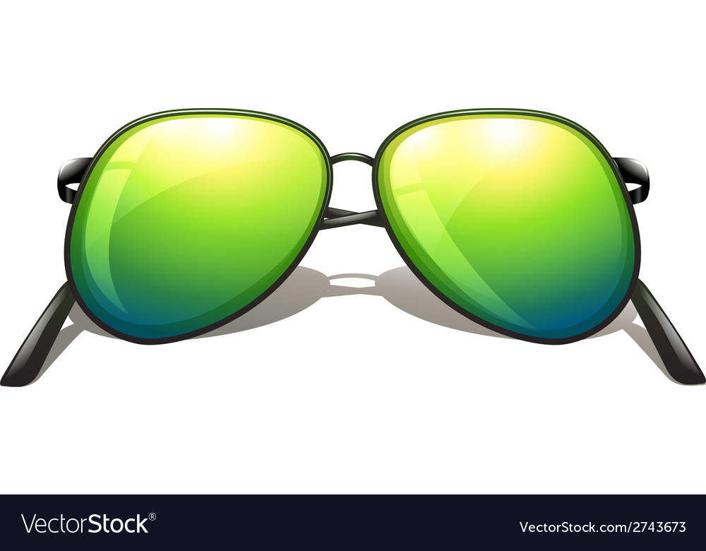 Green sunglasses vector | Price: 1 Credit (USD $1)