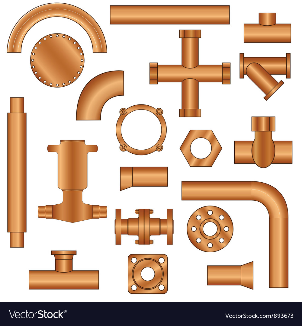 Pipelines and fittings vector | Price: 1 Credit (USD $1)