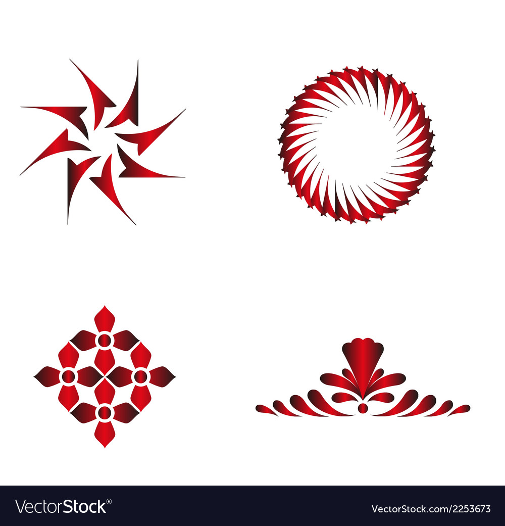 Red floral download vector | Price: 1 Credit (USD $1)