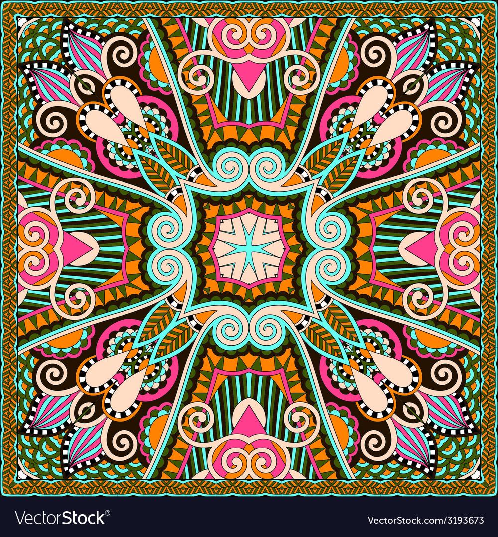 Silk neck scarf or kerchief square pattern design vector | Price: 1 Credit (USD $1)